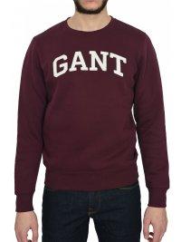 GANT GANT MAN ΦΟΥΤΕΡ GIFT GIVING C-NECK SWEAT ΜΠΟΡΝΤΩ