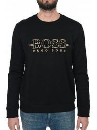 BOSS ATHLEISURE BOSS ATHLEISURE ΦΟΥΤΕΡ LOGO SALBO ΜΑΥΡΟ