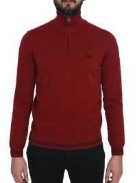 BOSS ATHLEISURE BOSS ATHLEISURE ΠΛΕΚΤΟ HALF ZIP ZOMEX W18 ΜΠΟΡΝΤΩ