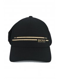 BOSS ATHLEISURE BOSS ATHLEISURE ΚΑΠΕΛΟ CAP-STRIPE ΜΑΥΡΟ