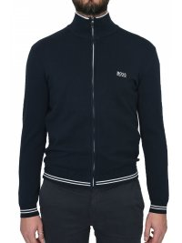 BOSS ATHLEISURE BOSS ATHLEISURE ΠΛΕΚΤΟ FULL ZIP ZOMEX W18 ΜΠΛΕ