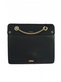 FURLA FURLA ΤΣΑΝΤΑΚΙ LIKE MINI CROSSBODY W/CHAIN ΜΑΥΡΟ
