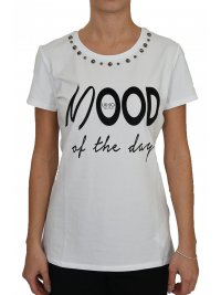 LIU-JO LIU-JO T-SHIRT KM MOOD OF THE DAY ΛΕΥΚΟ