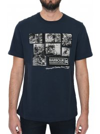 BARBOUR BARBOUR T-SHIRT KM MOTORCYCLING ΜΠΛΕ