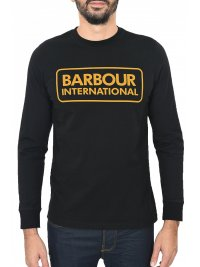 BARBOUR BARBOUR T-SHIRT MM LOGO ΜΑΥΡΟ