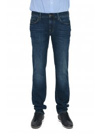 TOMMY HILFIGER TOMMY HILFIGER ΠΑΝΤΕΛΟΝΙ JEANS DENTON STRAIGHT FIT STRETCH ΜΠΛΕ
