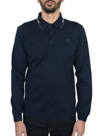 PAUL&SHARK PAUL&SHARK POLO MM SHARK FIT DOUBLE MERCERIZED ΜΠΛΕ