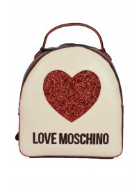 LOVE MOSCHINO LOVE MOSCHINO ΤΣΑΝΤΑ BACK PACK RED HEART ΜΠΕΖ/ΜΑΥΡΟ