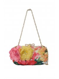 ALLURE ALLURE ΤΣΑΝΤΑ CROSSBODY SMALL FLORAL ΡΟΖ