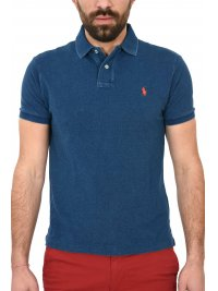 RALPH LAUREN RALPH LAUREN POLO CUSTOM SLIM FIT ΠΛΥΜΕΝΟ DENIM ΜΠΛΕ