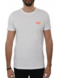 SUPERDRY SUPERDRY T-SHIRT ΚΜ LOGO ΛΕΥΚΟ
