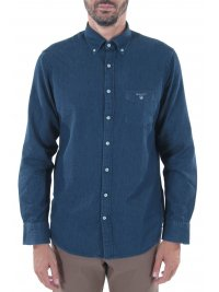 GANT GANT ΠΟΥΚΑΜΙΣΟ JEANS THE INDIGO REG BUTTON DOWN ΜΠΛΕ