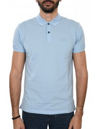 63cafe8b156c BOSS BOSS BUSINESS POLO PALLAS REGULAR FIT PIMA COTTON ΣΙΕΛ