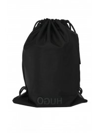 HUGO HUGO ΤΣΑΝΤΑ BACKPACK RECORD DRAWSTRING ΜΑΥΡΟ