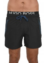 BOSS  BOSS BEACHWEAR ΜΑΓΙΩ ΣΟΡΤΣ THORNFISH QUICK DRY ΜΑΥΡΟ