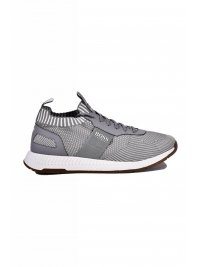 BOSS ATHLEISURE BOSS ATLEISURE  ΠΑΠΟΥΤΣΙΑ SNEAKERS TITANIUM RUNN SCAFE ΓΚΡΙ
