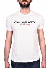 U.S. POLO ASSN U.S. POLO ASSN T-SHIRT INSTITUTIONAL LOGO ΥΠΟΛΕΥΚΟ