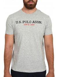 U.S. POLO ASSN U.S. POLO ASSN T-SHIRT INSTITUTIONAL LOGO  ΓΚΡΙ