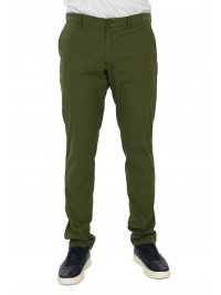 TRUSSARDI JEANS TRUSSARDI JEANS ΠΑΝΤΕΛΟΝΙ CHINO AVIATOR FIT GARMENT DYED ΠΡΑΣΙΝΟ