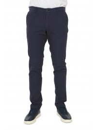 TRUSSARDI JEANS TRUSSARDI JEANS ΠΑΝΤΕΛΟΝΙ CHINO AVIATOR FIT GARMENT DYED  ΜΠΛΕ