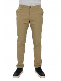 TRUSSARDI JEANS TRUSSARDI JEANS ΠΑΝΤΕΛΟΝΙ CHINO AVIATOR FIT GARMENT DYED  ΜΠΕΖ