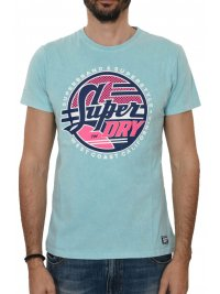 SUPERDRY SUPERDRY T-SHIRT ΚΜ ΣΤΑΜΠΑ ΓΑΛΑΖΙΟ