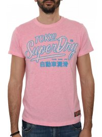SUPERDRY SUPERDRY T-SHIRT ΚΜ ΣΤΑΜΠΑ ΡΟΖ