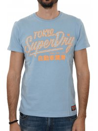 SUPERDRY SUPERDRY T-SHIRT ΚΜ ΣΤΑΜΠΑ ΣΙΕΛ