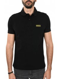 BARBOUR BARBOUR INTERNATIONAL POLO ESSENTIAL ΜΑΥΡΟ