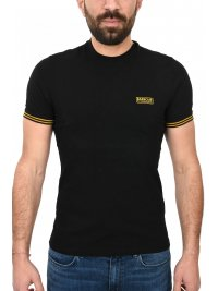 BARBOUR BARBOUR INTERNATIONAL T-SHIRT CABLE TIPPED ΜΑΥΡΟ