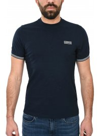 BARBOUR BARBOUR INTERNATIONAL T-SHIRT CABLE TIPPED ΜΠΛΕ