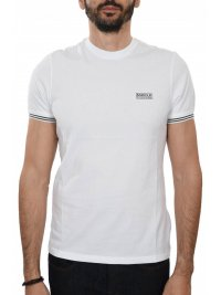 BARBOUR BARBOUR INTERNATIONAL T-SHIRT CABLE TIPPED ΥΠΟΛΕΥΚΟ