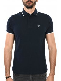 BARBOUR BARBOUR POLO AMBLESIDE TIPPED ΜΠΛΕ