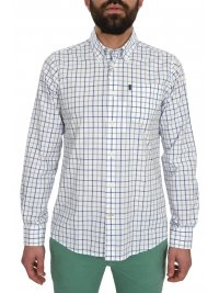 BARBOUR BARBOUR ΠΟΥΚΑΜΙΣΟ BUTTON DOWN ΜΕ ΤΣΕΠΑΚΙ TATTERSALL ΚΑΡΩ ΛΕΥΚΟ