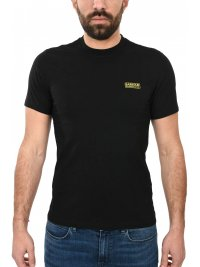 BARBOUR BARBOUR INTERNATIONAL T-SHIRT SLIM FIT SMALL LOGO ΜΑΥΡΟ