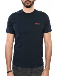 BARBOUR BARBOUR INTERNATIONAL T-SHIRT SMALL LOGO ΜΠΛΕ