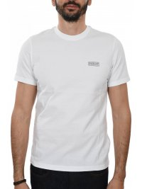 BARBOUR BARBOUR INTERNATIONAL T-SHIRT SMALL LOGO ΥΠΟΛΕΥΚΟ