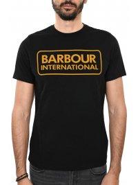 BARBOUR BARBOUR INTERNATIONAL T-SHIRT ESSENTIAL LARGE LOGO ΜΑΥΡΟ