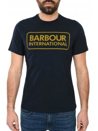 BARBOUR BARBOUR INTERNATIONAL T-SHIRT ESSENTIAL LARGE LOGO ΜΠΛΕ