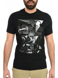 BARBOUR BARBOUR INTERNATIONAL T-SHIRT FRAME ΜΑΥΡΟ