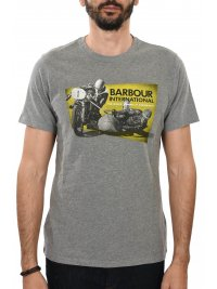 BARBOUR BARBOUR INTERNATIONAL T-SHIRT ARCHIVE TEE ΜΕΛΑΝΖΕ ΓΚΡΙ