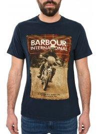 BARBOUR BARBOUR INTERNATIONAL T-SHIRT ARCHIVE TEE ΜΠΛΕ