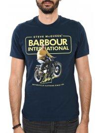 BARBOUR BARBOUR STEVE McQUEEN T-SHIRT COOLER ΜΠΛΕ