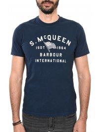 BARBOUR BARBOUR STEVE McQUEEN T-SHIRT BOON ΜΠΛΕ