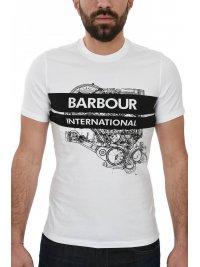 BARBOUR BARBOUR INTERNATIONAL T-SHIRT GAUGE TEE ΛΕΥΚΟ