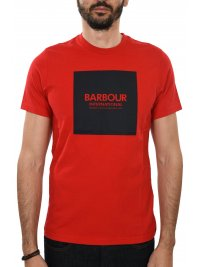 BARBOUR BARBOUR INTERNATIONAL T-SHIRT BLOCK ΚΟΚΚΙΝΟ