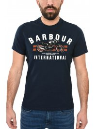 BARBOUR BARBOUR INTERNATIONAL T-SHIRT BIKE STRIPES ΜΠΛΕ