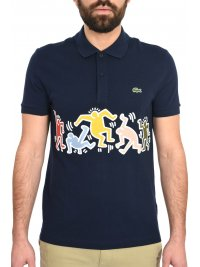LACOSTE LACOSTE POLO KEITH HARING  ΜΠΛΕ