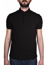 LACOSTE LACOSTE POLO PARIS REGULAR FIT ΜΑΥΡΟ