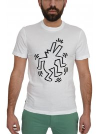 LACOSTE LACOSTE T-SHIRT KEITH HAIRING ΛΕΥΚΟ